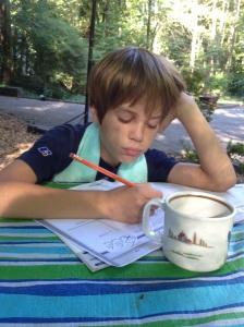 tea and math outside