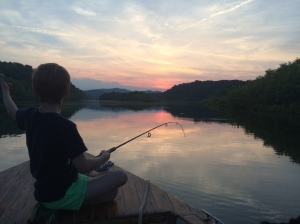 fishing on the Tugaloo