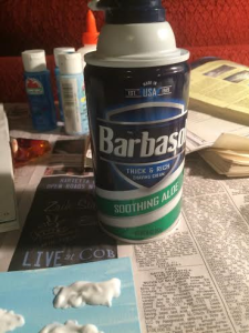 Use your typical shaving cream