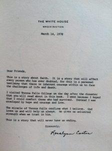 letter from Mrs. Carter