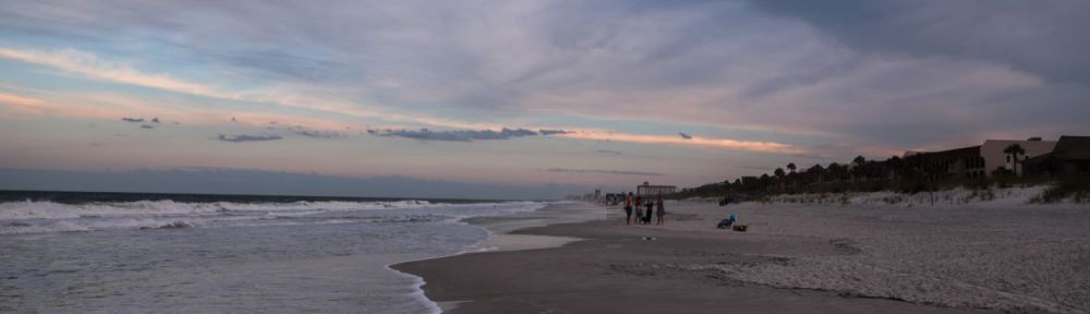 Atlantic Beach after sunset